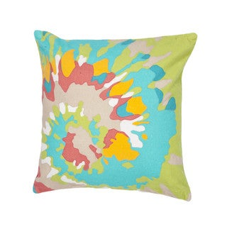 Contemporary Duck Canvas Multicolor Abstract Square Throw Pillows (Set of 2)