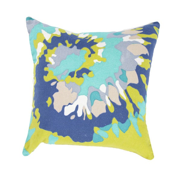 Contemporary Duck Canvas Multicolor Abstract Square Pillows (Set of 2)