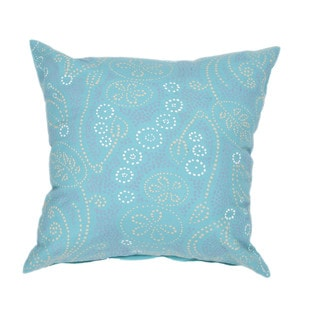 Contemporary Cotton Blue/ Green Square Pillows (Set of 2)