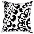 Contemporary Cotton Grey/ Ivory Square Pillows (Set of 2)