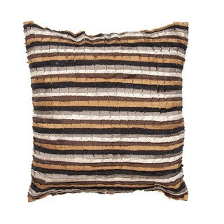 Contemporary Beige/ Brown Square Pillows (Set of 2)