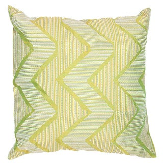 Contemporary Poly Dupione Asian Green Square Pillows (Set of Two)