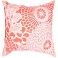 Contemporary Poly Dupione Pink/ Purple Square Pillows (Set of 2)