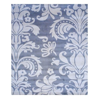 Indo Hand-tufted Blue/ Grey Wool Area Rug (10' x 12')