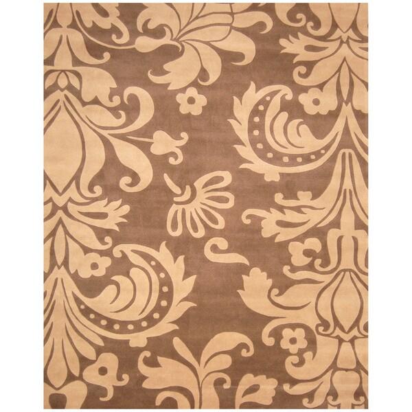 Indo Hand-tufted Blue/ Grey Wool Area Rug (10' x 12')