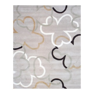 Indo Hand-tufted Beige/ Ivory Wool Area Rug (8' x 10')