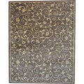 Indo Hand-tufted Light Brown/ Beige Wool Area Rug (8' x 10')