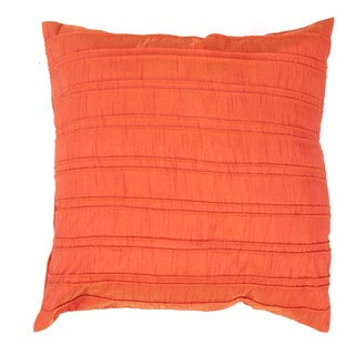 Contemporary Red / Orange Square Pillows (Set of 2)