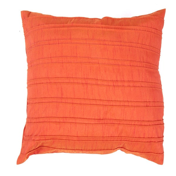 Contemporary Red / Orange Square Pillows (Set of 2)