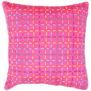 Pink/ Purple Square Pillows (Set of 2)