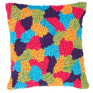 Multicolor Synthetic Square Pillows (Set of 2)