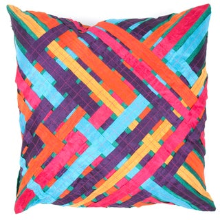 Multicolor Woven Square Pillows (Set of 2)