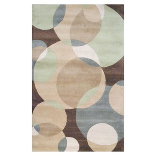Indo Hand-tufted Beige/ Brown Wool Area Rug (5' x 8')
