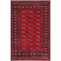 Pakistani Hand-knotted Bokhara Red/ Ivory Wool Rug (3'11 x 6')