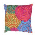 Contemporary Multi-color Square Pillows (Set of 2)