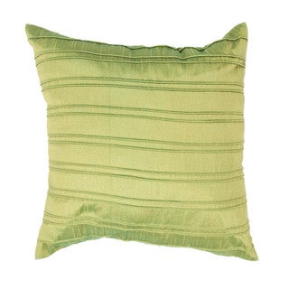 Contemporary Green Square Pillows (Set of 2)
