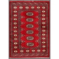 Pakistani Hand-knotted Bokhara Red/ Ivory Wool Rug (2'7 x 3'7)
