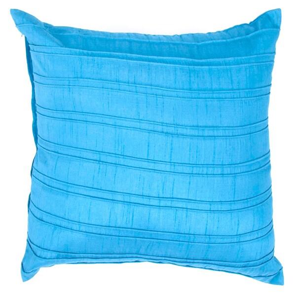 Contemporary Blue Square Pillows (Set of 2)