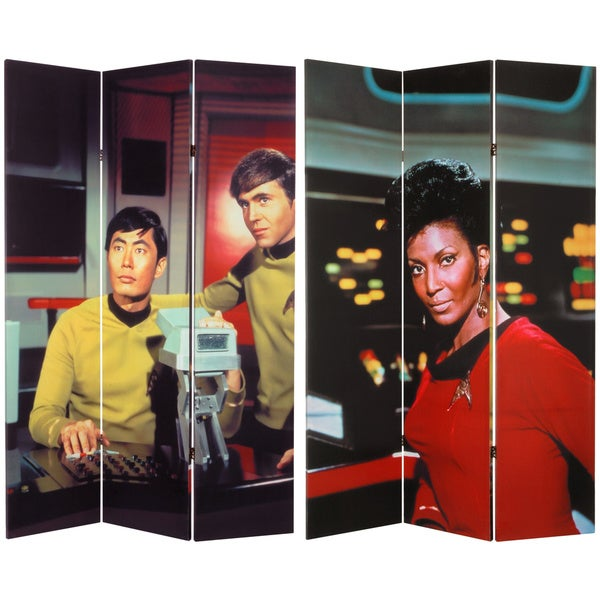 Star Trek Uhura/ Sulu/ Chekov 6-foot Canvas Room Divider