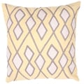 Yellow/ Ivory Geometric Print Square Pillows (2)
