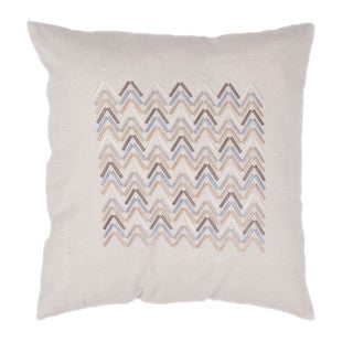 Ivory/ White Chambray Square Pillows (Set of 2)