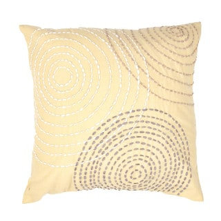 Contemporary Cotton Gold/ Yellow Square Pillow ( Set of 2 )