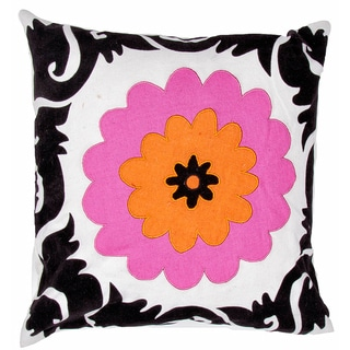 Flower Print Square Pillows (Set of 2)
