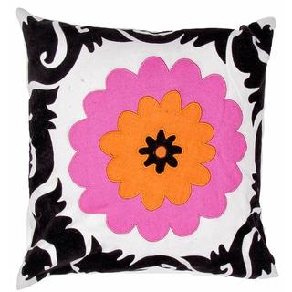 Flower Print Square Pillows (Set of 2)