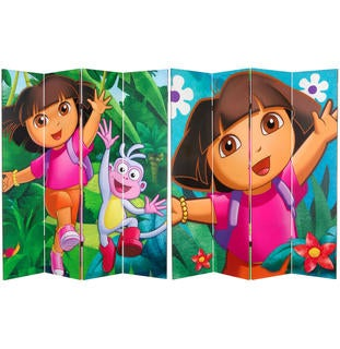 Dora the Explorer 6-foot Canvas Room Divider (China)
