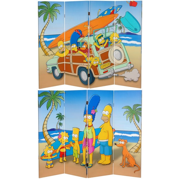 4-Foot Simpson Family Vacation Canvas Room Divider