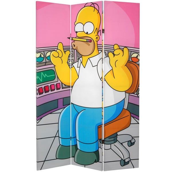 Simpsons Homer at Work 6-foot Canvas Room Divider 10509642