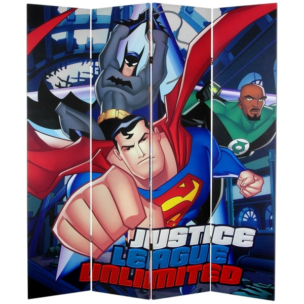 DC Comics Justice League Unlimited 6-foot Canvas Room Divider