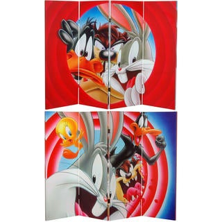 4-Foot Tall Double Sided Looney Tunes Canvas Room Divider