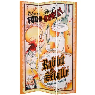 6-Foot Tall Double Sided Bugs Bunny Canvas Room Divider