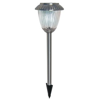 Malibu 8-piece Nickel Solar Light Set