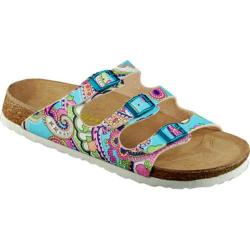 Women's California Footwear Co. Santa Rosa Blue Paisley Nubuck