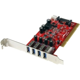 StarTech.com 4 Port PCI SuperSpeed USB 3.0 Adapter Card with SATA/SP4