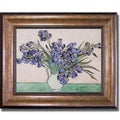 Vincent Van Gogh 'Les Iris' Framed Canvas Art