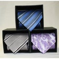 Ferrecci Microfiber Patterned Neckties (Pack of 3)