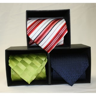 Ferrecci Microfiber 4-Inch Neckties (Pack of 3)