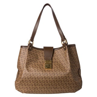 Fendi 8BR661 00FB5 F0TTF Forever Zucca-Printed Medium Hobo
