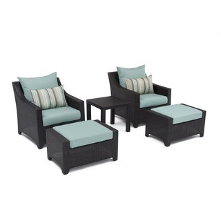 RST Outdoor Bliss 5-Piece Club Chairs and Ottomans Patio Furniture Set