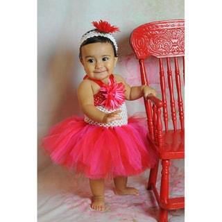 Red & Pink Tutu Valentine Dress Set
