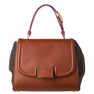 Fendi 8BN234 00FKN F0RFL Pequin Silvana Satchel Bag