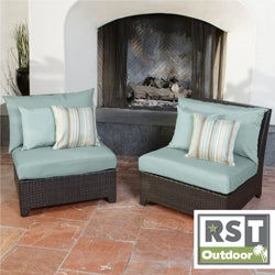 RST Outdoor Bliss Patio Furniture Armless Chairs (Set of 2)