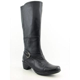 Clarks Women's 'Wish Excite' Leather Boots - Wide (Size 8.5)