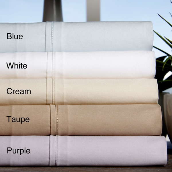 Brielle Home 380 Thread Count 100-percent Cotton Sateen Sheets