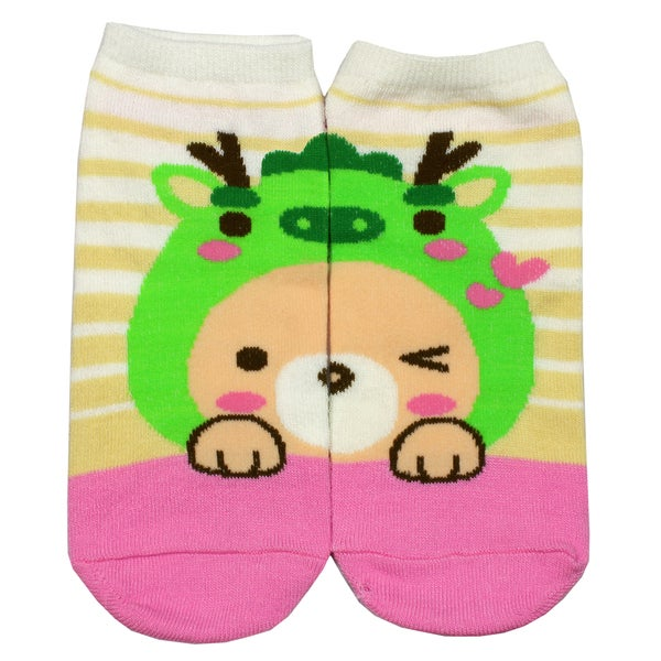 Angelina Creative Frog Fun Design Ankle Socks