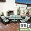 RST Outdoor Bliss 8-Piece Sofa, Club Chair and Ottomans Patio Furniture Set