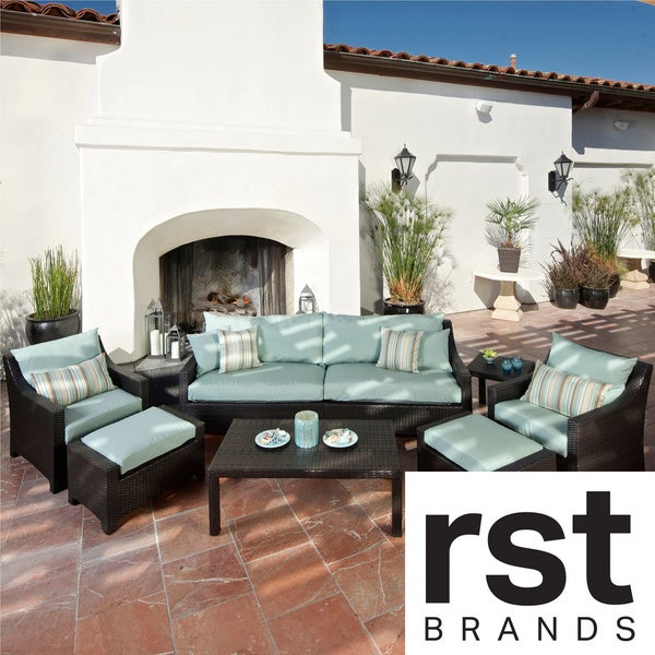 Rst Brands Bliss 8 Piece Sofa Club Chair And Ottomans